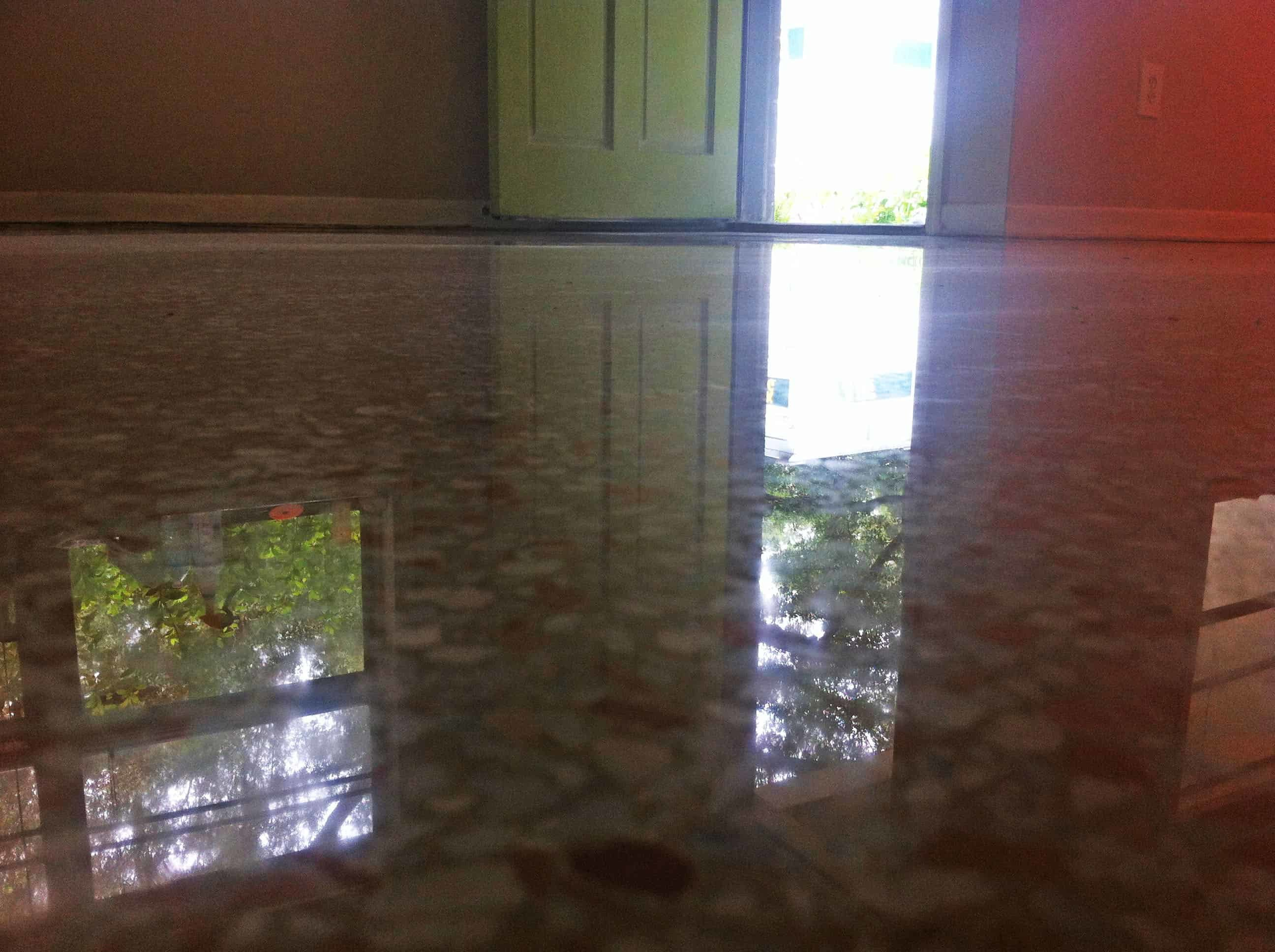 Dry Terrazzo Restoration Done With A Polishing New System