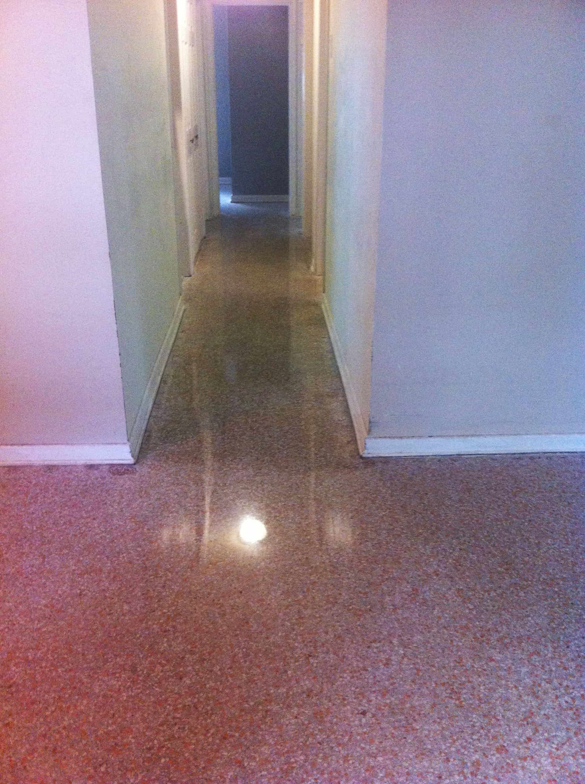 Terrazzo Pad Damage And Stain Removal