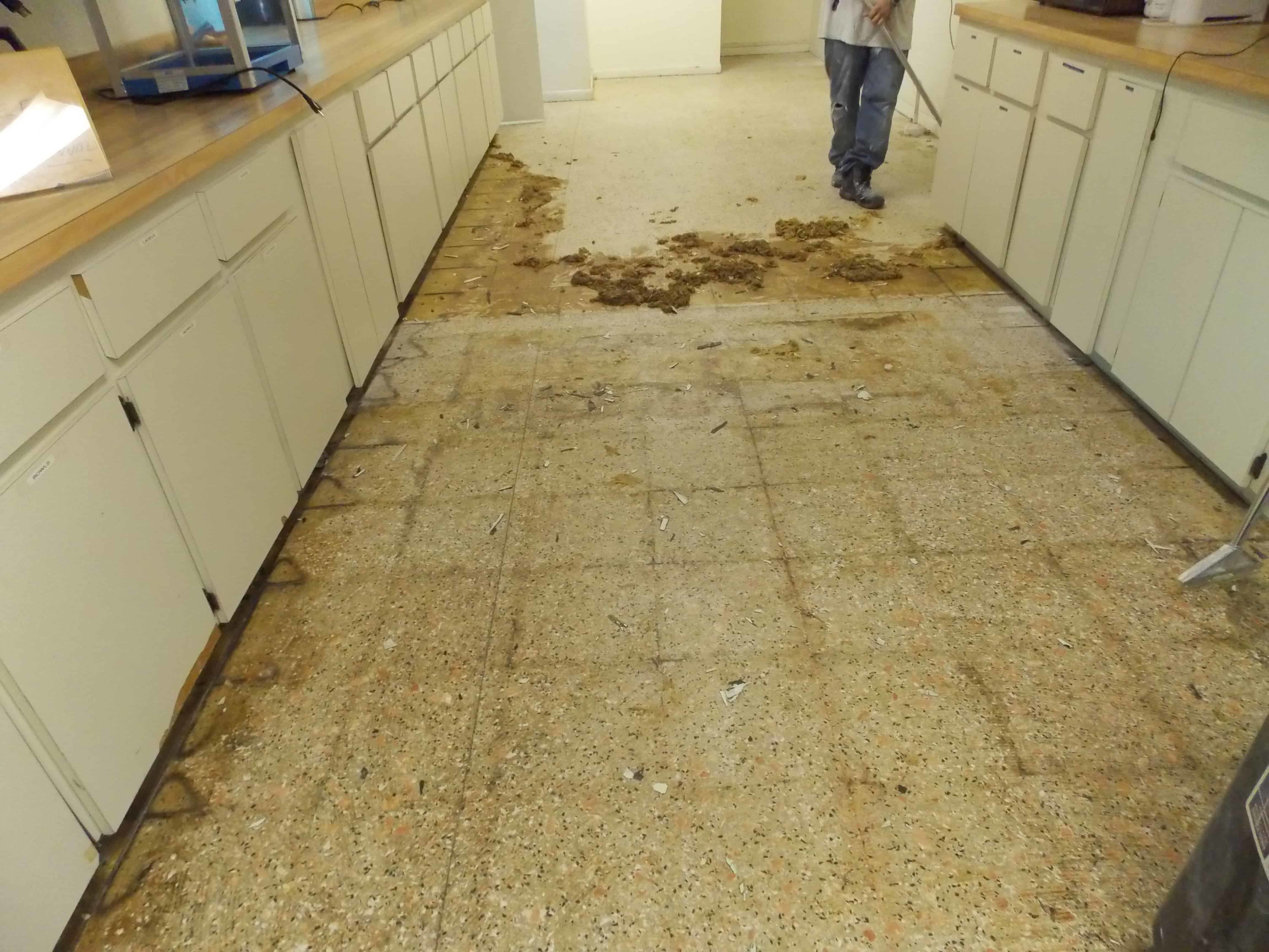how to clean stained terrazzo floors