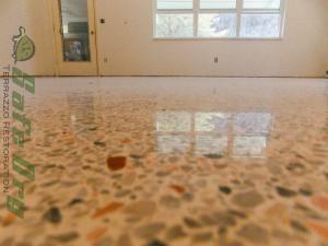 Florida dry polished terrazzo