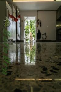 Cleaning diamond polished terrazzo