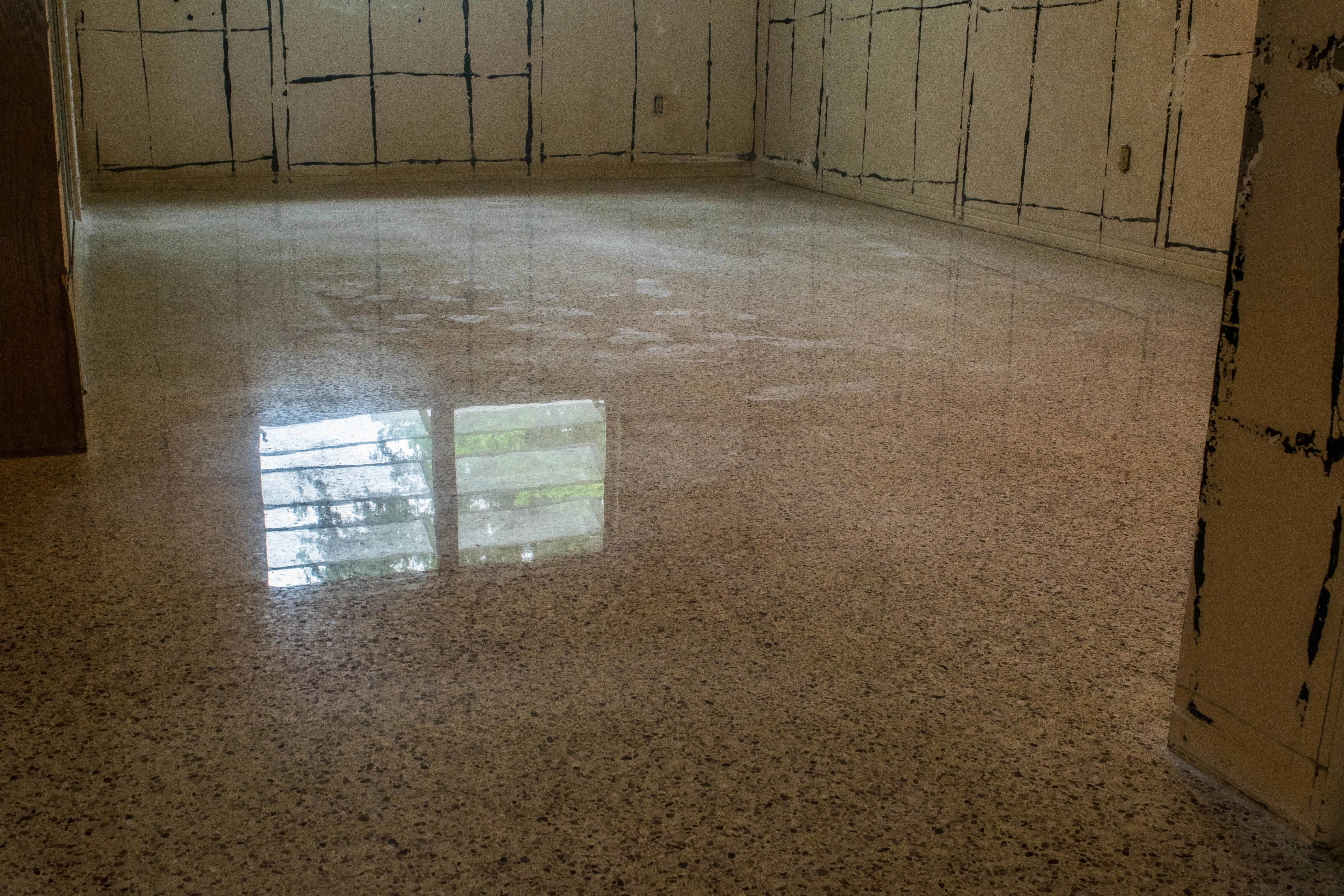 Terrazzo Flooring With Severe Pad Damage May Still Be Restored