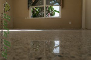 Polished Honed and densified terrazzo