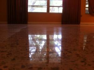 After Terrazzo Polishing