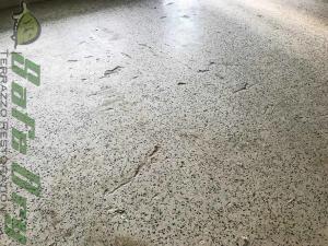 Terrazzo flooring damage