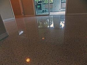 Englewood terrazzo restoration without topical sealer or finish