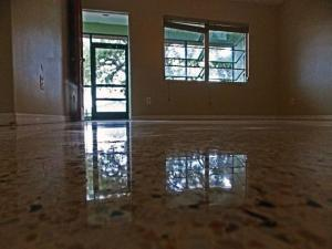 Terrazzo restoration Englewood after diamond polishing with dry system
