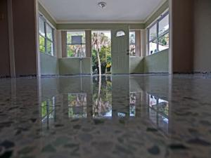Sarasota terrazzo restoration polished to a high shine