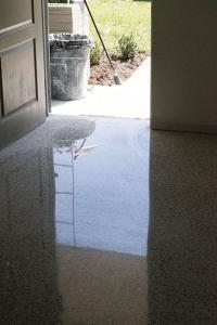 Terrazzo Floor done with all dry diamond process