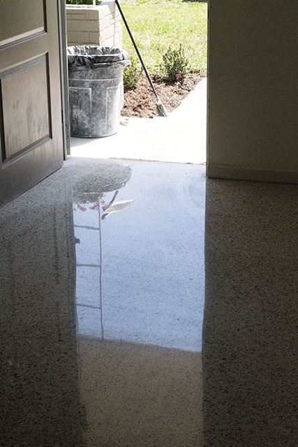 Marco Island Dr2 After Terrazzo Floor Done With All Dry Diamond Process Restoration