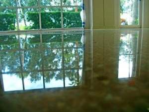 terrazzo diamondpolishing reflection