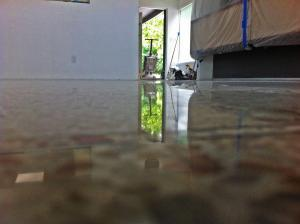 This floor was polished dry in the sarasota area with no topical finish
