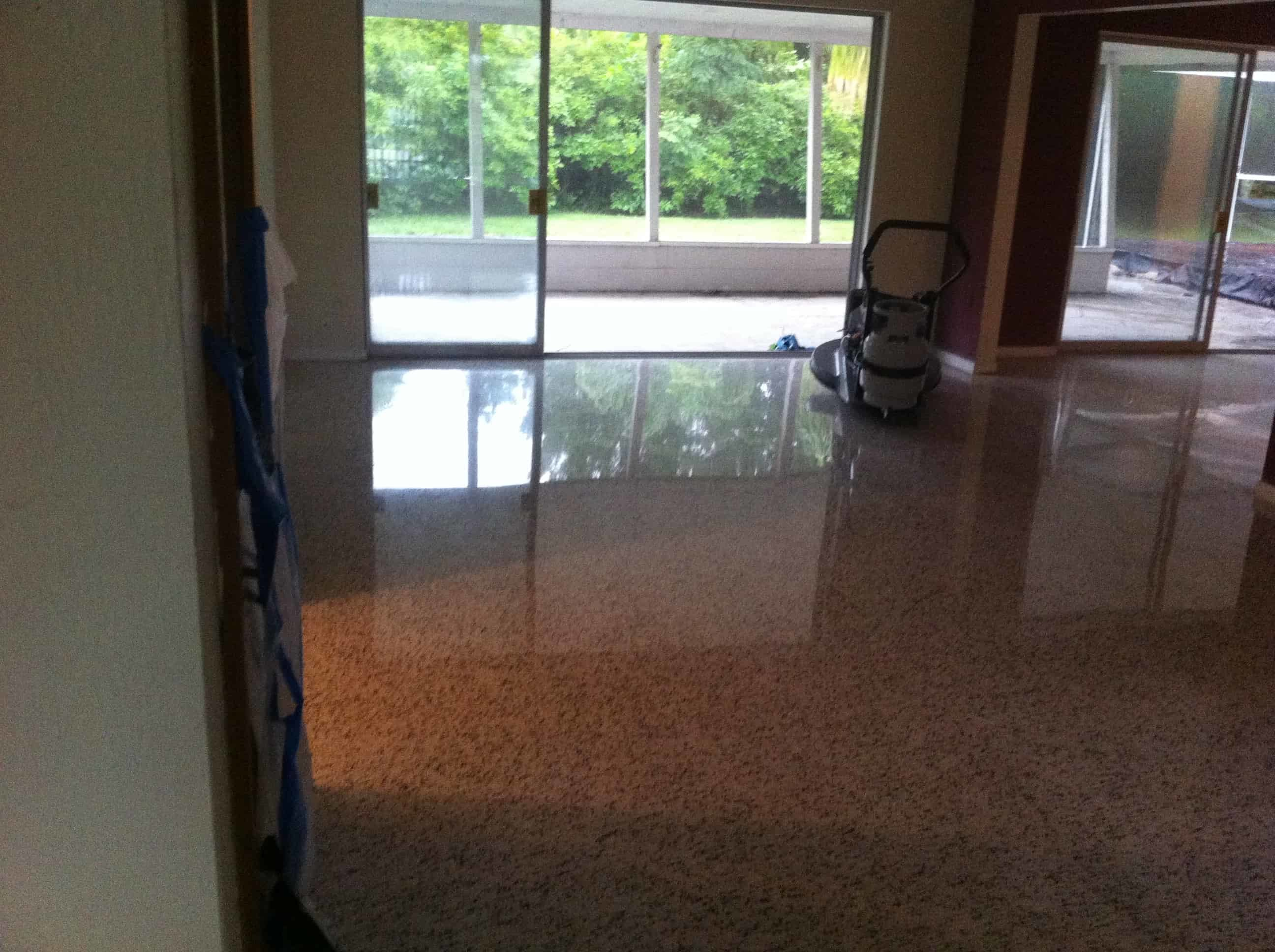 Terrazzo restoration cost terrazzo restoration blog diamond polished terrazzo floor in sarasota dailygadgetfo Image collections
