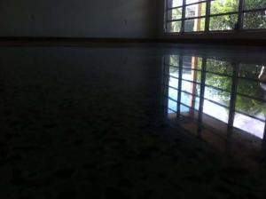 Diamond polished terrazzo floor