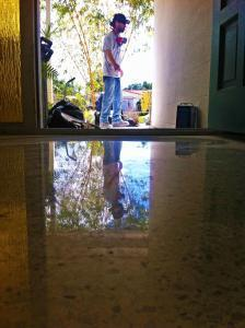 This terrazzo restoration Sarasota by SafeDry was dry polished