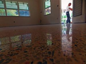 Terrazzo Restoration Bradenton done with dry diamonds