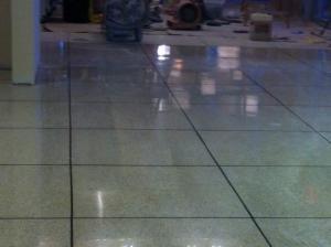 terrazzo restoration shine beginning